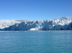 Iceberg calving.